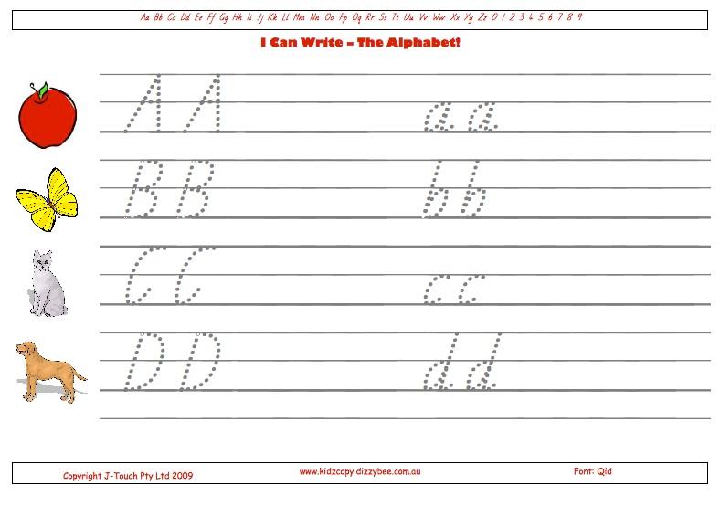 Free Alphabet Worksheets Australia. Alphabet Handwriting ...